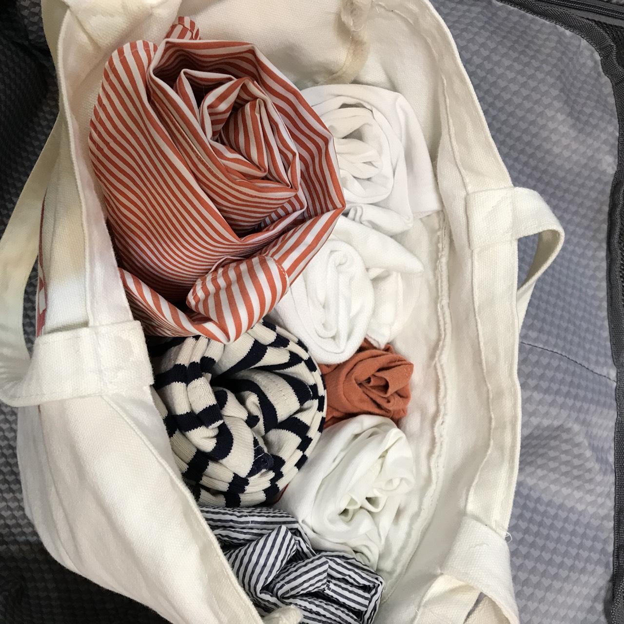 服の詰め方