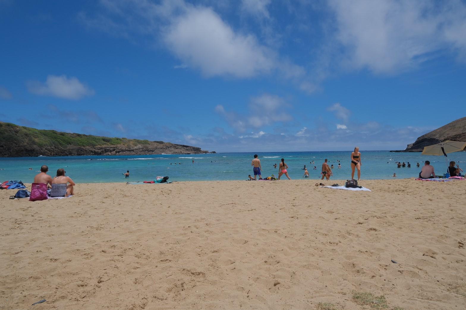 ハナウマベイのビーチ