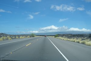 ハワイ島の道路