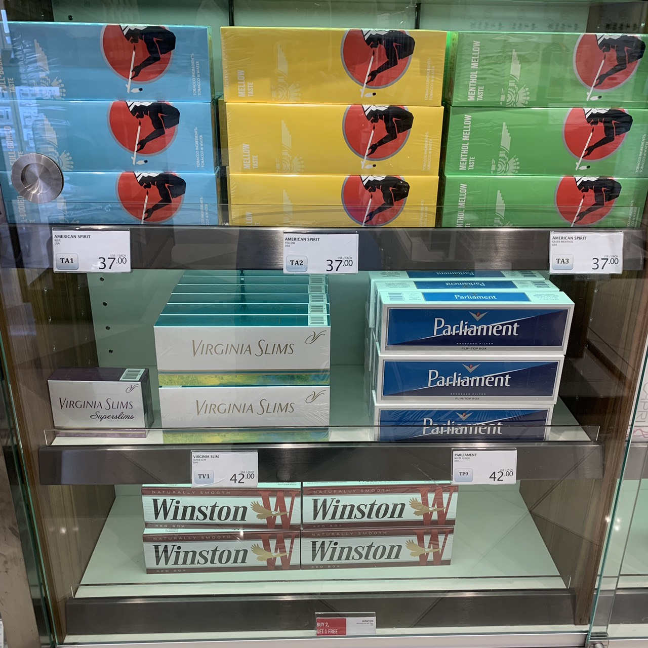 ホノルル空港の免税タバコ