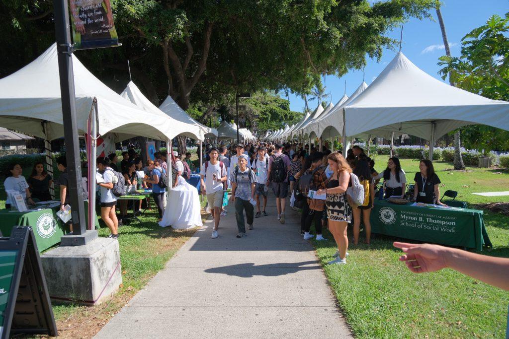 ハワイ大学の新歓の様子